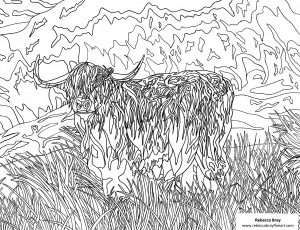 Hairy Coo Coloring Page