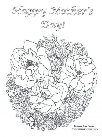 Mother's Day Adult Coloring Page